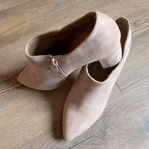 Dusty rose booties